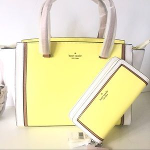 Kate Spade Patterson Drive Purse Wallet Set Lime